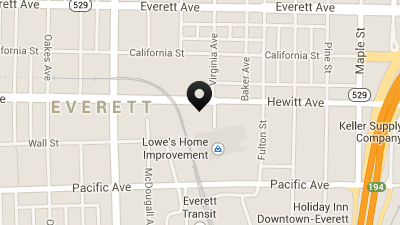 Everett Downtown Storage Location Map for Hewitt Ave
